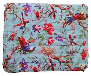 Indian Cotton Razai Quilt Blanket Winter Bedspread Twin Size Quilt Bedding Razai