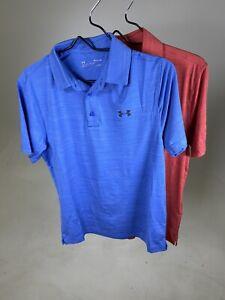 Under Armour Men's Golf Polo Shirt Heat Gear Sizes XS, SMALL, MEDIUM, LARGE-NEW!