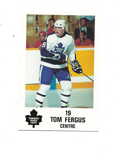 1991-92 Maple Leafs PLAY #10 Tom Fergus Toronto Maple Leafs