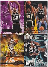 (4) FLEER ULTRA DOUBLE TROUBLE/ALL-NBA TEAM: DAVID ROBINSON - SPURS INSERT LOT