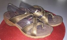 MERRELL SUNDIAL CROSS LEATHER SANDALS SIZE 11 Brown