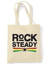 Rock Steady \ a spalla shopping bag-REGGAE rastafariana Bob Marley Rasta