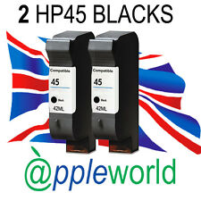 2 HP45 HIgh Capacity Black Ink Cartridges [51645a] Deskjet Officejet Photosmart