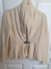Women's Ralph Lauren Ivory Wool Angora Sweater, Size Medium