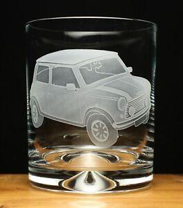 Mini Car Classic engraved glass tumbler gift present
