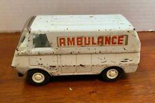 Vintage Tonka Mini Pressed Steel White Ambulance Van 1970's Toys Cars Trucks