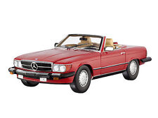 NOREV 1985 Mercedes 300SL USA Version (R107) Cabriolet Red Rare Dealer Edition!