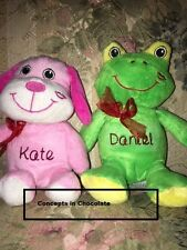 10 Personalized Stuffed Animals Plushie Valentine's Day V'day Gifts Kids,
