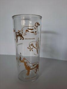 Dog Collie Shepherd Beagle Dachshund Clear Tall Tumbler Drink Glass Cup
