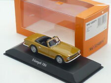 MAXICHAMPS - 940-132571 TRIUMPH TR6 ORANGE COLOUR 1968 1:43 SCALE