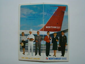 "1950's Northwest Orient Airlines ""Welcome Aboard"" Souvenir Flight Book & Maps"