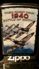 Zippo lighter Battle of Britain 1940 their finest hour.Very Rare  Ltd edition