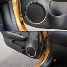 SUS304 Stainless Steel Interior Door Speaker Trim For Nissan Note Versa 2017 ON