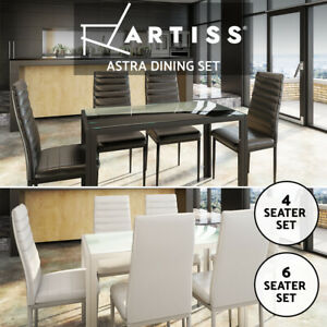 Black Glass Dining Tables For Sale Shop With Afterpay Ebay