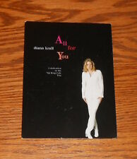 Diana Krall All for You Postcard Promo 6x4