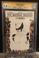 THE MARVELS PROJECT 1 CGC 9.8 SS BLANK W/ ORIGINAL WOLVERINE BY CHRISTIAN ALAMY
