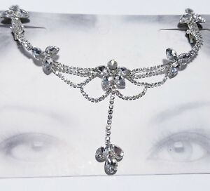 Rhinestone Headband Frontlet Hair Clip Jewelry