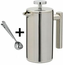 3 Cup 350ml Cafetiere Stainless Steel Double Wall Filter Coffee Latte Tea Maker