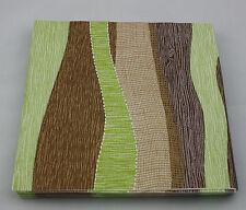 10 Linclass Paper Napkins - linen look 40 x 40cm Modern Brown Green - Ramon