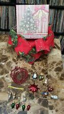 Mini Tree Christmas Holiday  Office Ornament Decoration Nativity Box Set