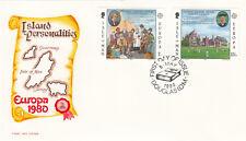 (18837) GB Isle of Man Mercury FDC Island Personalities EUROPA Thomas Brown 1980