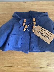 "Vintage 1970's Gabrielle Paddington Bear Original  Luggage Tag & Duffle Coat 18"""