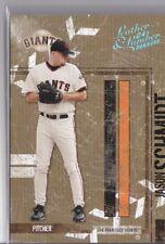 True 1/1 JASON SCHMIDT 2004 Leather & Lumber Platinum #126 One of One