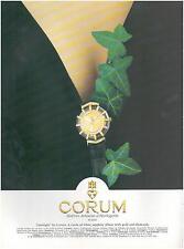 ▬► PUBLICITE ADVERTISING AD Montre Watch CORUM Limelight 1994