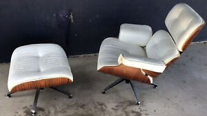 Replica  Eames Lounge Chair & Ottoman - Fabric Starting To Fray.