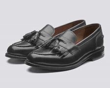 GRENSON MACKENZIE - HAND PAINTED LOAFER DRESS - DARK GREY - 43.5 9.5E