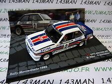 auto 1/43 IXO altaya ITALIEN Rallye AUFBAU CARLO 1982 : OPEL ASCONA 400 Röhrl