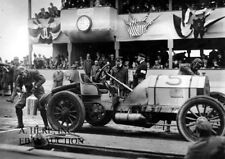 Lancia M34 racer William Hilliard 1908 Meadow Brook racing pit stop photo photo