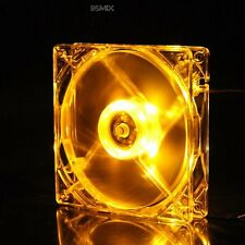 Quiet 120mm 120x25mm Yellow LED Light Fan Cooler for Computer PC Case Cooling