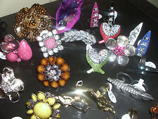 60 RINGS WHOLESALE LOT CHIC COCKTAIL COSTUME JEWELRY