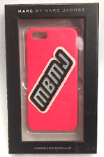 NEW Marc by Marc Jacobs MBMJ Raised Logo Diva Pink iPhone 5/5s Case