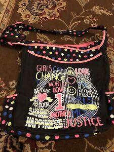 NEW Justice Shoulder Bag Girls Carry Bag Sparkly Shinney Messenger Bag
