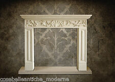 Camino Stile Impero Pietra Empire Fireplace Leccese Stone CLASSIC HOME IN DESIGN