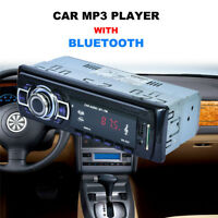 Bluetooth Car Stereo Audio In-Dash FM Plug-in Card Receiver USB MP3 Radio Player