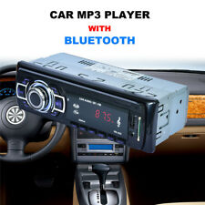 Bluetooth Car Stereo Audio In-dash FM Plug-in Card Receiver USB Mp3 Radio Player