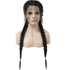 26 inch Braided Lace Synthetic Black Front Wig With Baby Hair Long Straight  SP