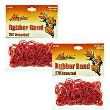 Hair Rubber Bands (Qty 550) PonyTails Braids Magic Brand Red - B2G1 Free_144-08R