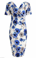 Short Sleeve Wiggle, Pencil Floral Petite Dresses for Women