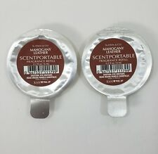 2 Bath and Body Works Mahogany Leather Scentportable Refill Discs Refills