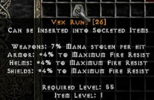 PD2 Project Diablo 2 Softcore SC - 2x VEX RUNE (2-PACK)