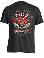 40th Birthday Gift Shirt Vintage No 40 Born in 1979 | T-Shirt