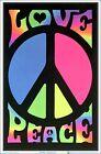 Внешний вид - Peace & Love Retro Blacklight Poster 23 x 35