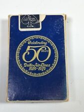 DELTA PLAYING CARDS   --  50 YEAR ANNIVERSARY
