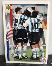 1994 Upper Deck World Cup Argentina Team Roster RARE