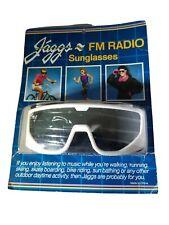 Vintage 80s Jaggs FM Radio Sunglasses NEW