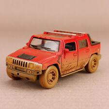 2005 Red Hummer H2 SUT Mud-Spattered Model Car 1:40 Scale Die-Cast 12.5cm